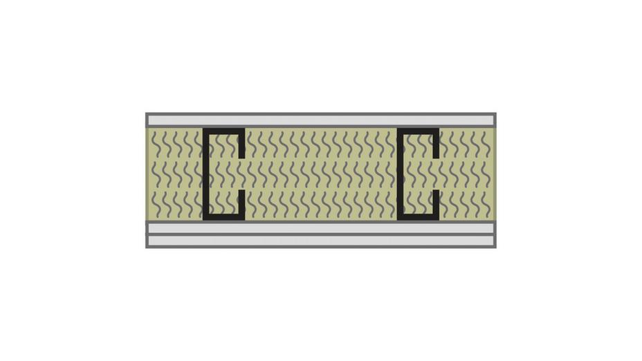 RFN-NA, optimized acoustics, sound blocking, alternate wall assembly STC 40 -2