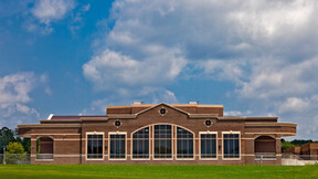 Bradley Central High School Fine Arts Center, KBJM Architects, TRI-CON Education, Pepple Photography, Exterior