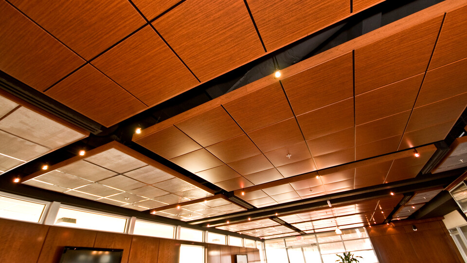 "Featured products: Rockfon® Planar® and Planar® Plus Linear Ceilings - Rockfon® Planostile™ Lay-in Metal Panel Ceiling System - Rockfon® Infinity™ Standard Perimeter Trim - Rockfon® Cubegrid® Open Plenum 15/16"" Ceiling"