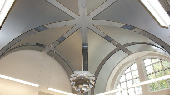 Carroll Hall, Winthrop University, FWA Group, Leitner Construction, Acousti Engineering, Custom Metal Ceiling, Education