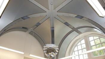 Carroll Hall, Winthrop University, FWA Group, Leitner Construction, Acousti Engineering, Custom Metal Ceiling, Education
