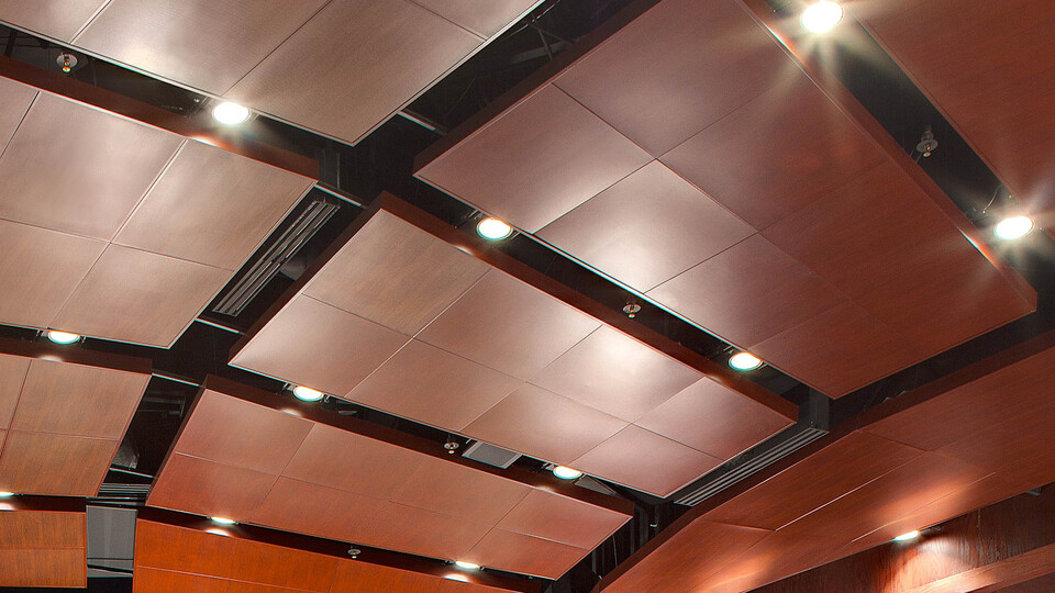 Featured products: Rockfon® Spanair® Torsion Spring Concealed Metal Panel - Rockfon® Infinity™ Standard Perimeter Trim