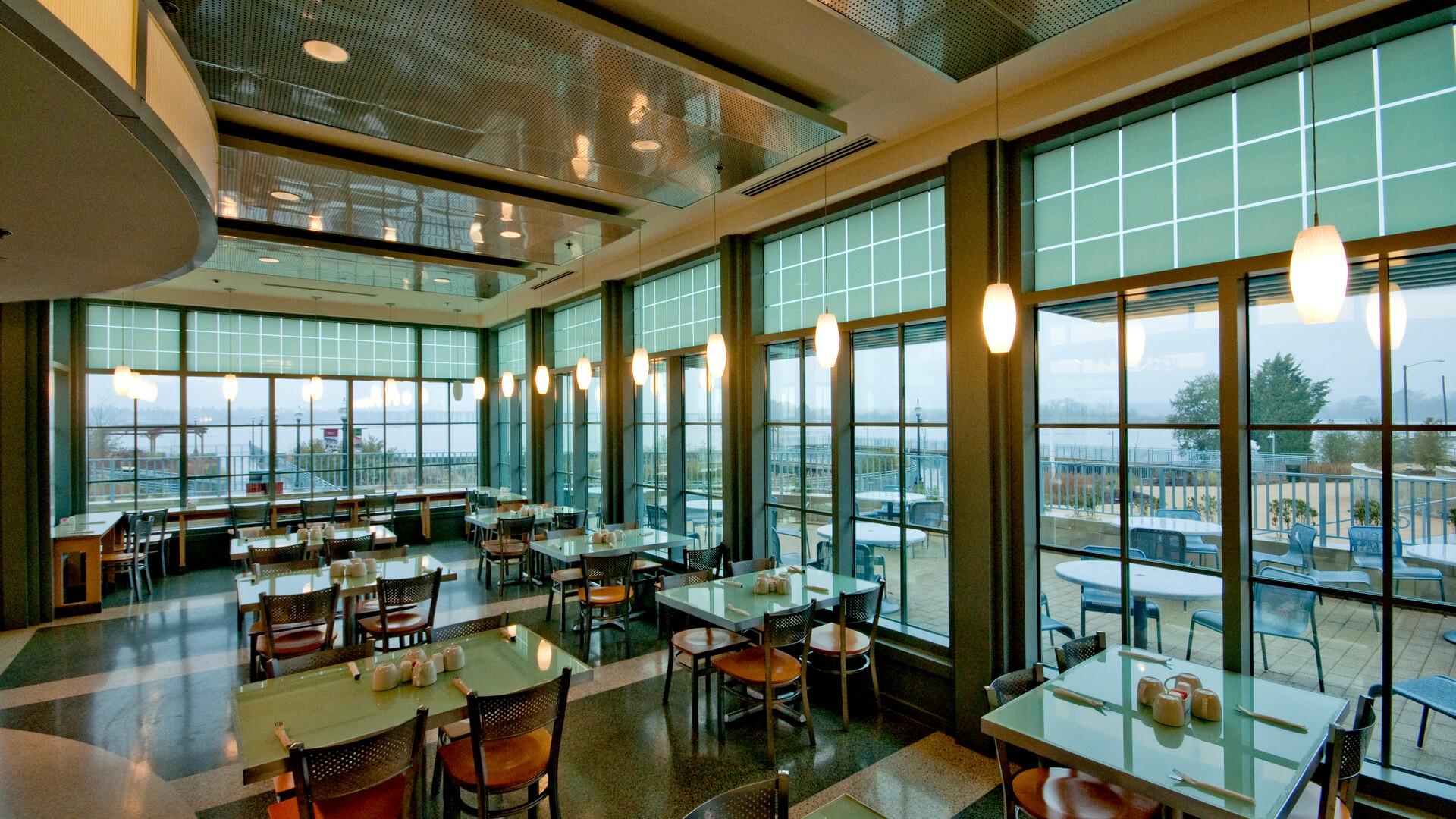 Featured products: Rockfon® Planostile™ Snap-in Metal Panel Ceiling System - Rockfon® Infinity™ Standard Perimeter Trim