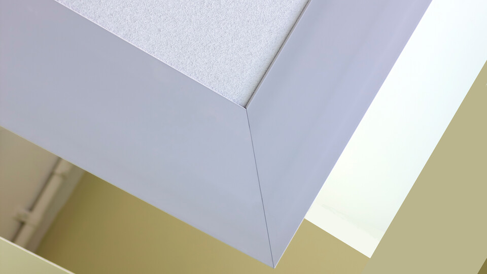 Featured products: Rockfon® Impact™ - Rockfon® Infinity™ R Perimeter Trim