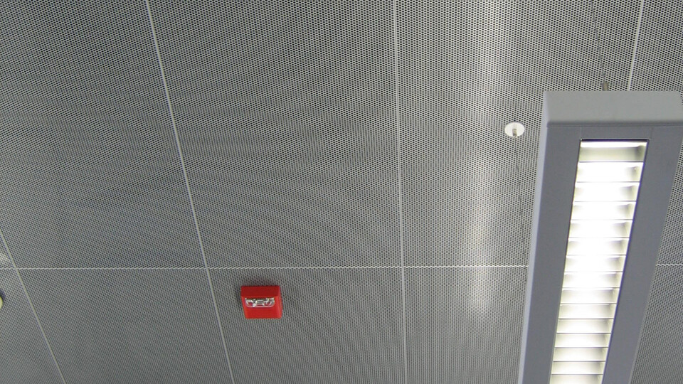 Featured products: Rockfon® Planostile™ Snap-in Metal Panel Ceiling System