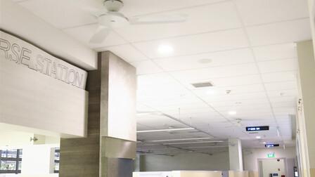 ST. LUKE HOSPITAL, SINGAPORE, ROCKFON MEDICARE STANDARD, ROCKFON PACIFIC 12mm, A15-edge, A24-edge,12MM, 4,600 m2, 5,100 m2, DESIGN ARCHITECTS, HOME FIBRE, WELMATE