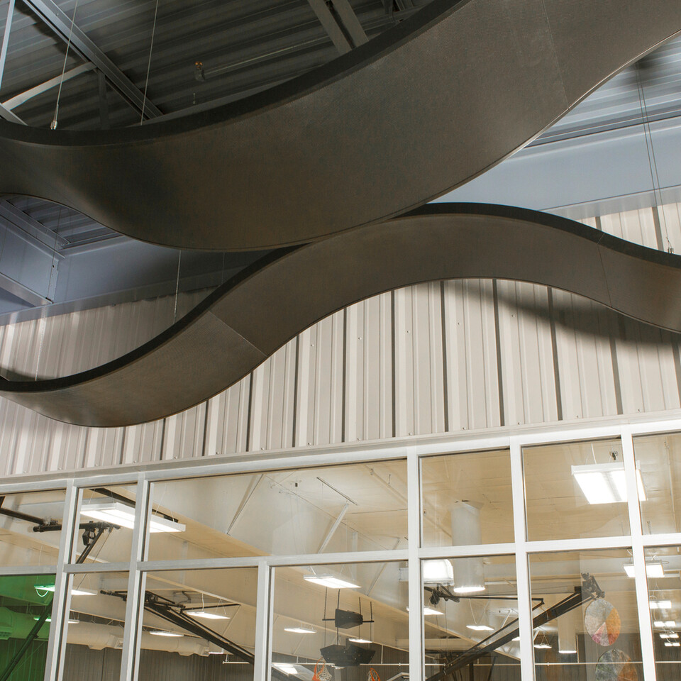 Rockfon Curvgrid One Directional Curved Ceiling System