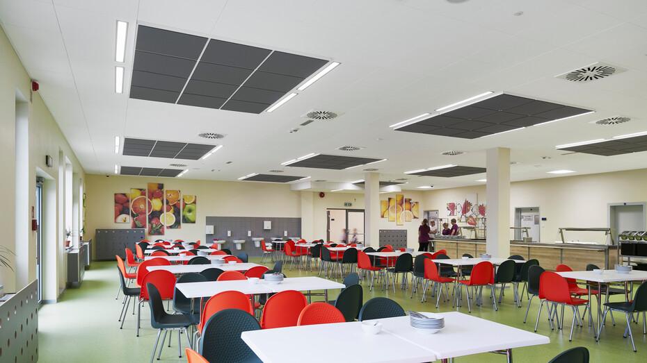 Complex of primary school and kindergarten,Poland,Wysoka,1.0000 m²,Monika Robaszko-Kowalska,Biuro Achitektoniczne Metropolis,Bartosz Makowski,ROCKFON Sonar,600x600,white
