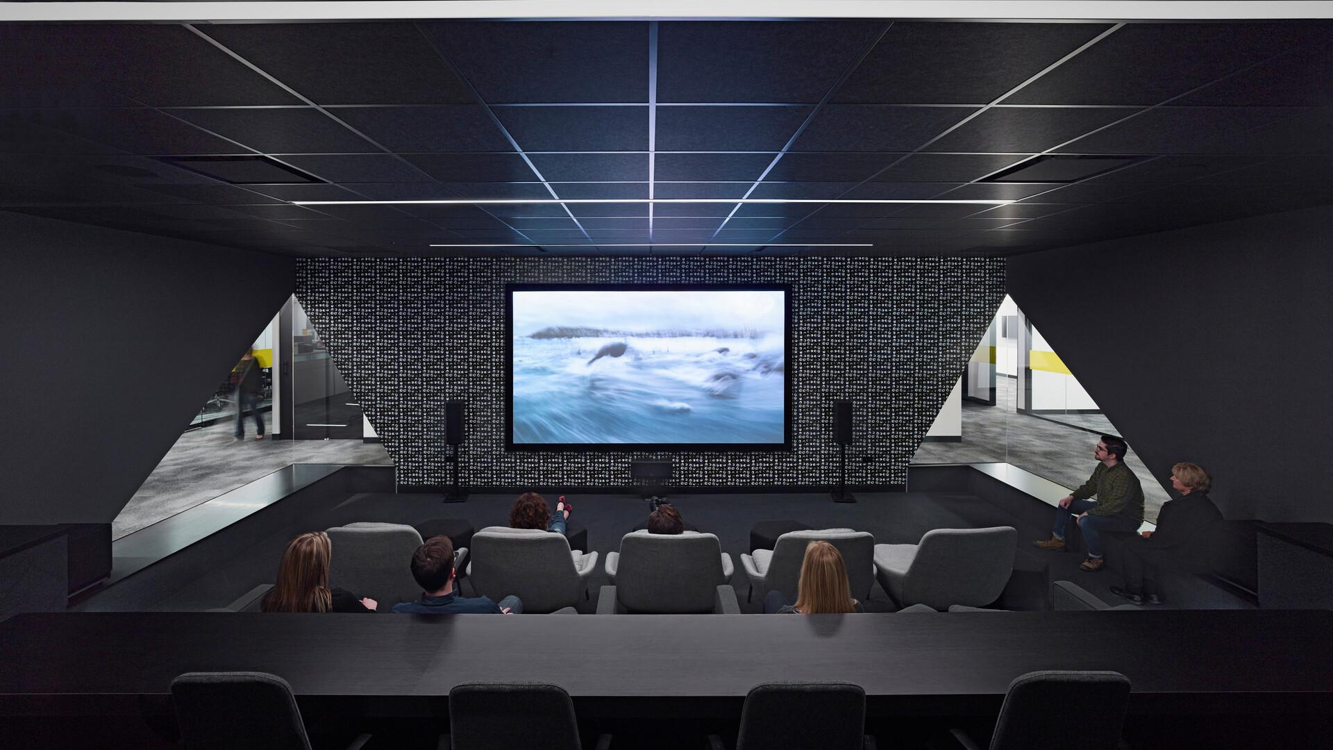 NA, MPI Media Group, office, conference room, media room, 1200, suspension system, grid, Cinema Black, SQ, 2x2, lay in