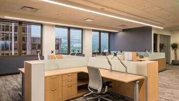 "NA, Intermountain Healthcare Corporate and Executive Offices, Koral SQ (A-Edge) 2x2 and 2x4, 1200 15/16"" Exposed, Open Office, Office, AJC Architects, Renovation"