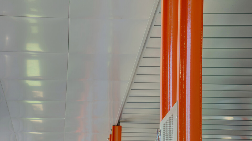 Featured products: Rockfon® Planar® Macro and Planar® Macroplus® Linear Ceilings - Rockfon® Planostile™ Snap-in Metal Panel Ceiling System - Rockfon® Infinity™ Standard Perimeter Trim