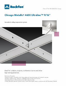 Chicago Metallic 174 4600 Ultraline Acoustical Ceiling