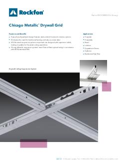 Chicago Metallic 174 640 650 670 Radius Drywall Ceiling Grid